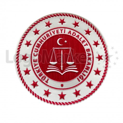 3D Adalet Bakanlığı Arması TPU