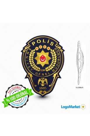 EGM - 3D Polis Göğüs Arması Müdür - TPU