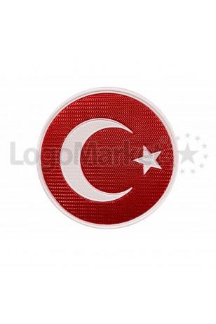 3D Yuvarlak Türk Bayrağı TPU